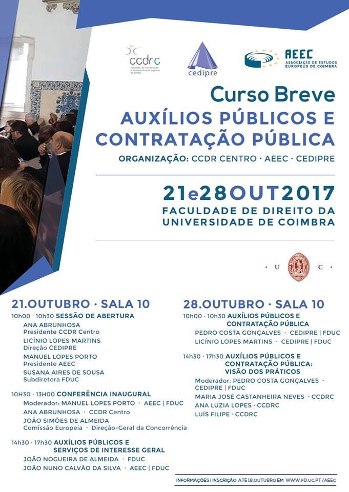Curso Breve em Direito dos Auxílios Públicos e Contratação Pública