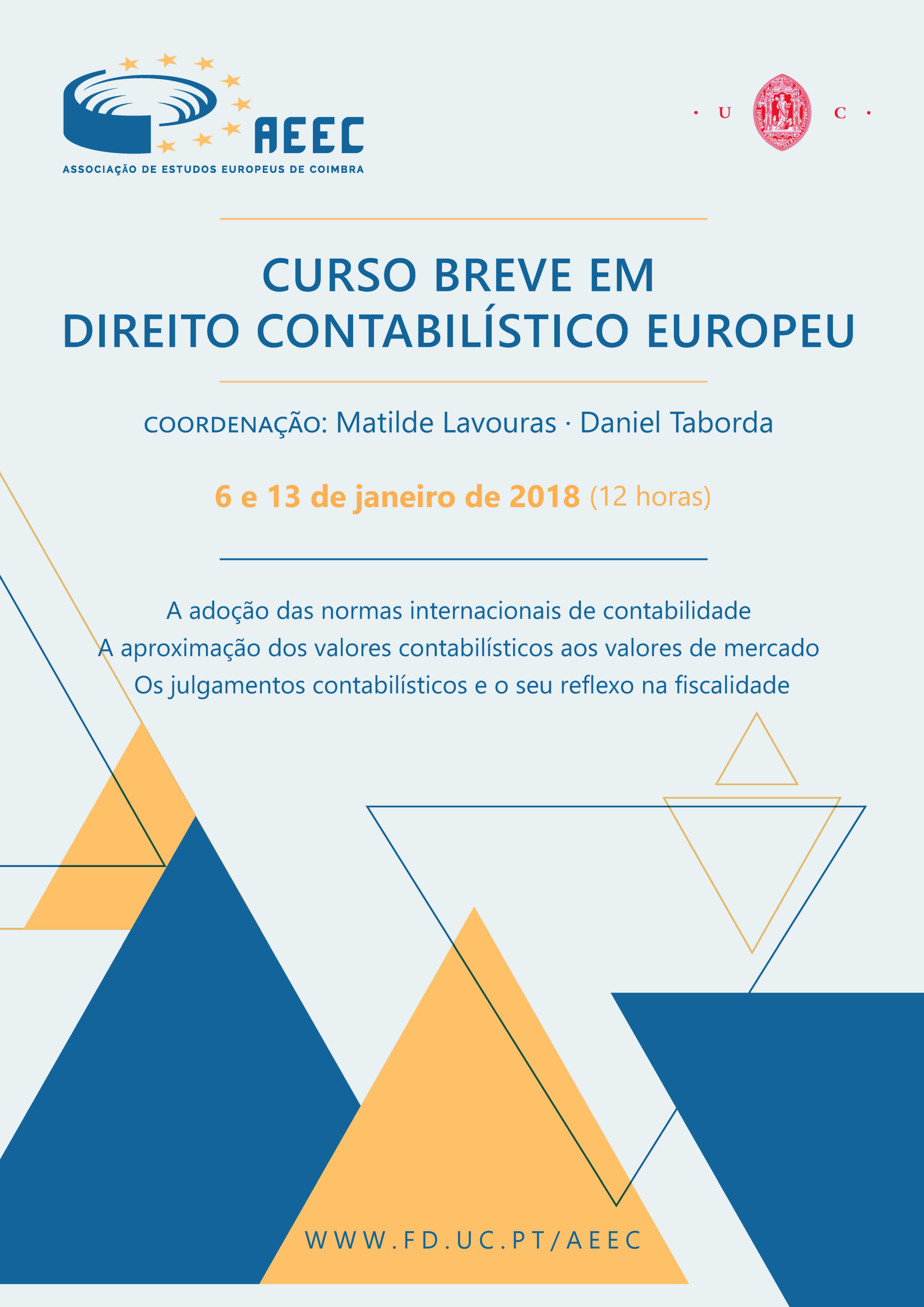 Curso Breve em Direito Contabilístico Europeu