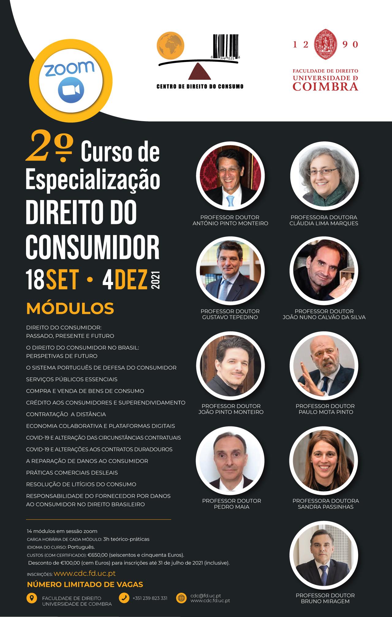 2.º Curso de  Especialização Direito do  Consumidor