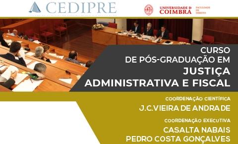 Curso de Pós-Graduação em Justiça Administrativa e Fiscal