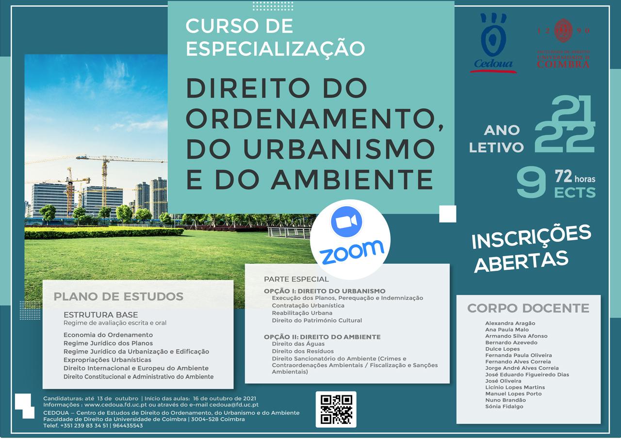 Curso de Especialização em Direito do Ordenamento, do Urbanismo e do Ambiente